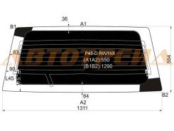Стекло заднее (крышка багажника) затемненное с обогревом MITSUBISHI CHALLENGER WAGON (PAJERO SPORT) P45-D RW/H/X