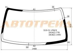 Стекло лобовое в клей без полосы HONDA CR-V 95-01 XYG S10-CL LFW/X