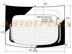 TM8-NH RW/H/X XYG Стекло заднее (крышка багажника) с обогревом HONDA INSIGHT HBK 2010-