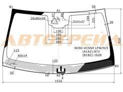 Стекло лобовое в клей mercedes benz gle-class 15-, переднее