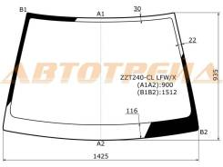 Стекло лобовое в клей без полосы TOYOTA PREMIO/ALLION 01-07 XYG ZZT240-CL LFW/X