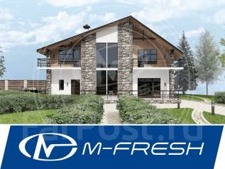 M-fresh Selebriti (Проект роскошного коттеджа с большими помещениями! ). 300-400 кв. м., 2 этажа, 5 комнат, бетон
