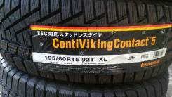 Continental ContiVikingContact 5. Зимние, без шипов, 2012 год, без износа, 4 шт