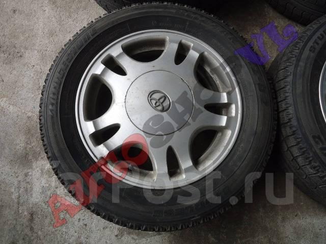 Литые диски Toyota с резиной Bridgestone Blizzak MZ-02. 5.5x15 5x114.30