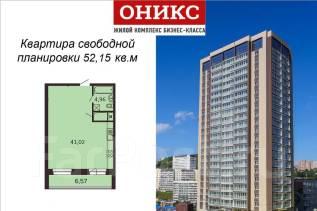 1-комнатная, проспект Красного Знамени 114а. Третья рабочая, застройщик, 52 кв.м. План квартиры
