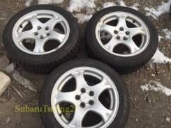 Колеса Subaru R16 5x100 + Dunlop DSX-2 205/50 зима 3шт. 6.5x16 5x100.00 ET53