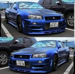 Диффузор переднего бампера Nissan Skyline R34 GTR. Nissan GT-R Nissan Skyline, ENR34, ER34, HR34, BNR34