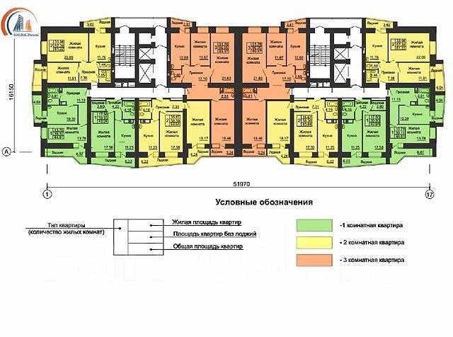 2-комнатная, улица Сергея Ушакова 19 стр. 1. Междуречье, агентство, 67 кв.м.