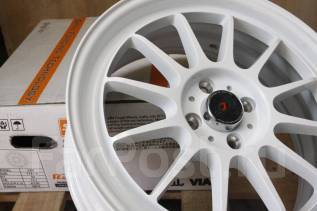 Супер легкие JDM 17x7 4x100 ET42 White VITZ FIT Swift MINI Cooper. 7.0x17, 4x100.00, ET42, ЦО 73,1 мм.