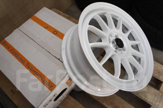 Супер легкие JDM 17x7 4x100 ET42 White VITZ FIT Swift MINI Cooper. 7.0x17, 4x100.00, ET42, ЦО 73,1мм.