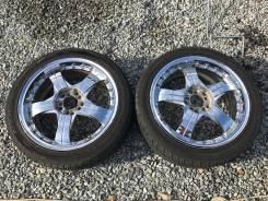 Пара спорт колес 215/45R17 хром литье 5*100, 5*114.3. 7.0x17 5x100.00, 5x114.30 ET48 ЦО 73,0мм.