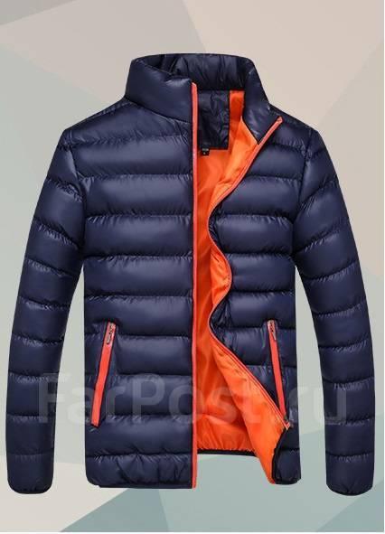 09512fc5d1611 Утепленная мужская куртка без капюшона! Синий цвет - Верхняя одежда ...