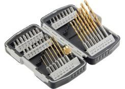 Набор бит и свёрл,магнитный адаптер,СrV, в пласт. боксе,40шт.//MATRIX