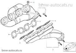 Коллектор выпускной. BMW X5, E53 Двигатели: M62B44T, M62B44TU