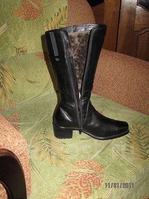 9cb75be39 Продам сапоги зимние новые мех и кожа натур., размер 39, цена ...