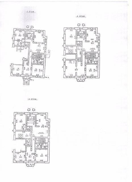 Продается трехэтажное помещение на Бестужева во Владивостоке. Улица Бестужева 26а, р-н Эгершельд, 911 кв.м. План помещения