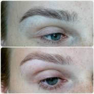 Оформление бровок, ламинирование ресничек, макияж