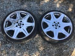 Пара спорт колес 215/35R19 литье хром 5*114.3. 8.0x19 5x114.30 ET32 ЦО 73,0мм.