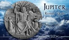 Ниуэ 2 доллара 2016 Юпитер. Jupiter. Серия 'Римские Боги' Серебро