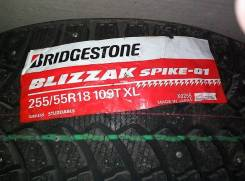 Bridgestone Blizzak Spike-01. Зимние, шипованные, 2014 год, без износа, 1 шт