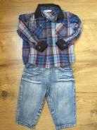 Рубашки джинсовые. Рост: 60-68 см