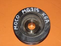 Шкив коленвала. Nissan Moco, MG21S Двигатель K6A