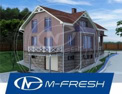 M-fresh Anton Style plus! (Доработанный проект с цоколем! Посмотрите! ). 300-400 кв. м., 2 этажа, 5 комнат, бетон