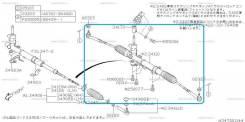 Рулевая рейка Subaru Legacy BP5 EJ20X