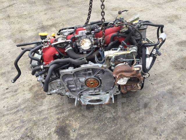 Двигатель в сборе. Subaru Impreza WRX STI, GGB, GDB Subaru Impreza, GGB, GGA, GDB, GDA Двигатели: EJ207, EJ20, EJ205, FJ20