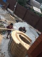 Фундамент, монолит, каменщики, штукатурка, габионы .
