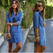 Платье рубашка под джинсу. 42, 44, 46, 48, 50, 52