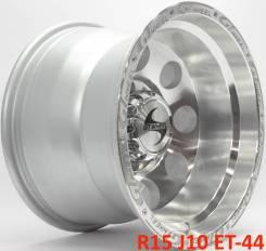 Новые! GT Wheels R15 J10 ET-44 6X139.7 5 дисков [2768]. 10.0x15, 6x139.70, ET-44, ЦО 110,1мм.