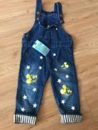 Полукомбинезоны джинсовые. Рост: 98-104, 104-110 см