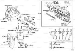 Прокладка выпускного коллектора. Toyota: Spade, Passo, Ractis, Porte, Vitz, Corolla Axio, Corolla Fielder Двигатель 1NRFE