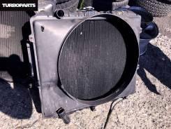 Радиатор охлаждения двигателя. Mitsubishi Pajero Evolution, V55W Двигатель 6G74