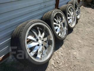 Комплект разношироких колес с полной ZEUS LINE 245/35R19 265/30R19. 9.5x19 5x114.30 ET35