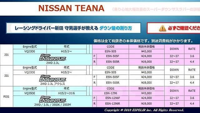 Пружина подвески. Nissan Teana, J31, PJ31 Двигатели: VQ35DE, NEO, VQ23DE, QR20DE