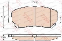 Колодки дисковые п.\ Mazda CX-5 2.0/2.0D 11>