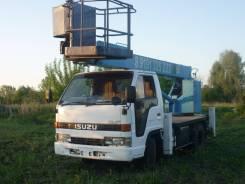 Isuzu. Автовышка, 4 300 куб. см., 14 м.