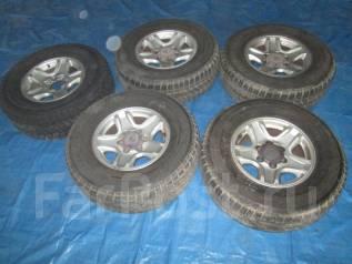 Диски Toyota Prado с шинами Bridgestone 265/70R16 зима. 7.0x16 6x139.70