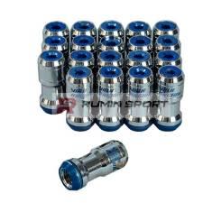 Гайки для дисков volk racing Formula Nut Set, шаг резьбы 1.25 мм, сине-серебристые