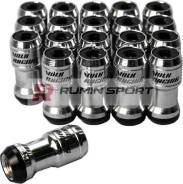 Гайки для дисков volk racing Formula Nut Set, шаг резьбы 1.25 мм, чёрно-серебристые