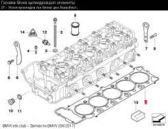 Прокладка головки блока цилиндров. BMW M6