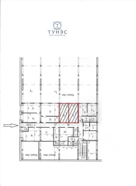 Сдаётся офисное помещение на Снеговой. 17кв.м., улица Снеговая 4, р-н Снеговая. План помещения
