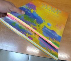 Бумага цветная.