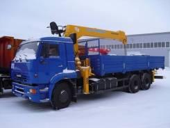 Камаз 65117. КМУ -773010-19+Soosan SCS736LII верх. упр. + борт сталь 6,8м, 12 000 куб. см., 10 000 кг.