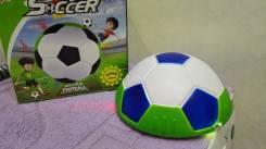 Мяч мягкий Аэровутбол-плоский! Свет+музыка+мягкий! безопасно для дома!