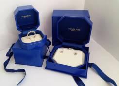Кольцо и серьги из белого золота с бриллиантами от Vendome Aoyama