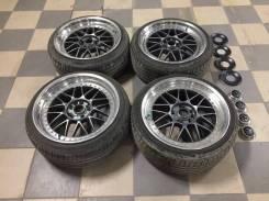 Work stich, диски с резиной Bridgestone Potenza 205/40 R18. 8.5/9.0x18 4x114.30, 5x114.30 ET35/37