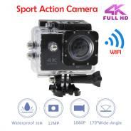 Экшн-камера Sports CAM Ultra HD 4K 30m WI FI: беспроводной